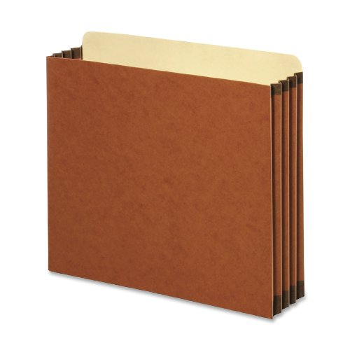 Globe-Weis/Pendaflex Redrope File Cabinet Pockets, 5.25 Inch Expansion, Letter Size, 10 Pockets Per Box, Brown (FC1534G)