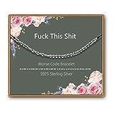 ASELFAD Luck This S-hi-t Morse Code Bracelet, Funny Birthday Gifts for Women,Retirement Gift, Birthday Present, Commemorative Gift