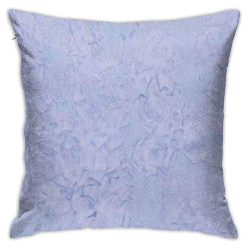 Throw Pillow Covers Light Periwinkle Solid Both Side Throw Pillow Case Pillow Cover Pattern Cushion Cover Zipped Square Standard Home Decorative 18X18 Inch for Sofa Office Chair C