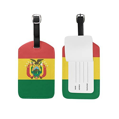 FANTAZIO Tag für Reisetasche Fahne Bolivien, 1 Stück
