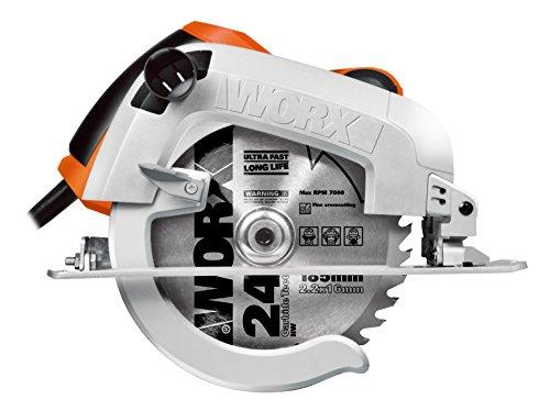 WORX WX445 Handkreissäge 1600W - mit präziser Schneidleistung, Laserführungssystem, einstellbarem Schnittwinkel & Parallelanschlag – 190mm Sägeblatt mit 24 Zähnen