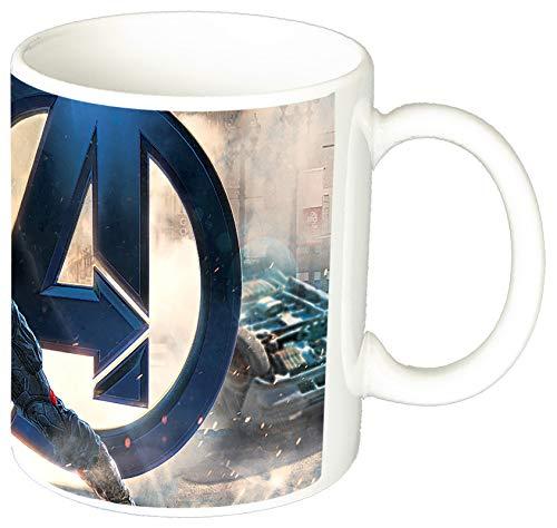 MasTazas Capitan America Captain America C Taza Ceramica 11 oz ≈ 325 ml