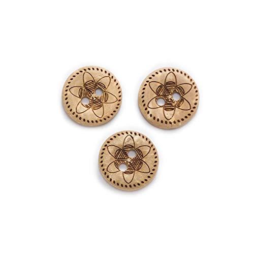 LOOEST Botones de Ropa 30 unids Opciones múltiples Botones de Coco Redondos Costura Scrapbooking Ropa Artesanía Accesorios HORRA Mano Decoración para Vestido de Ropa (Color : No.30 12.5mm)