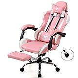 Meetingraum Stühle Mode Internet Cafe Spiel Stuhl Personalisierte Gaming Chair Home Study Stuhl Büro-Boss Stuhl Angehoben Und Abgesenkt Werden Kann Gedreht Werden (Color : Pink)