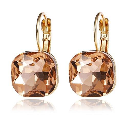 Modieuze oorbellen met Lover kleur temperament-plek, kristallen oorbellen, geschikt voor vrouwen en meisjes.