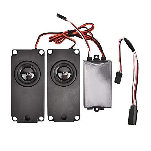 VGEBY1 RC Car Gasgestänge Gruppe, 2 Lautsprecher ABS Engine Sound Simulator für 1/10 RC Model Car