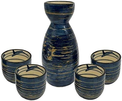 ADGN 5 von Hand bemalt in einem japanischen Sake Cup Set Ceramic Sake Set for Kalt/Warm/Shochu/Tee for Familie und Freunde for Geschenk Sake Cups 710