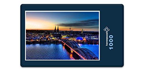 hansepuzzle 27957 Orte - Köln, 1000 Teile in hochwertiger Kartonbox, Puzzle-Teile in wiederverschliessbarem Beutel