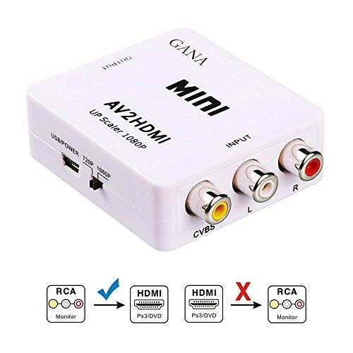 AV to HDMI 変換 コンバーター GANA AV to HDMI 変換 端子 RCA to HDMI USBケーブル付き 1080p対応 デジタ...