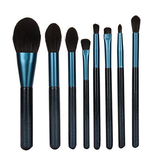 Pinceau De Maquillage Yeux 8 PCS Set Pinceaux Maquillage Bleu Pinceaux Maquillages Synthétiques Haut De Gamme Pour Fond De Teint Mélange Poudre Pour Le Visage Blush Concealers Ombres à Paupières