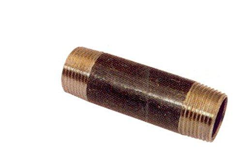 Temperguss Gewindefitting schwarz Rohrnippel 1/2