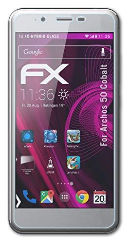 atFolix Glasfolie kompatibel mit Archos 50 Cobalt Panzerfolie, 9H Hybrid-Glass FX Schutzpanzer Folie