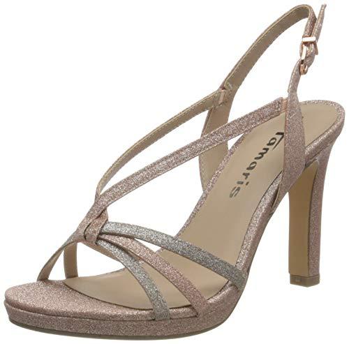 Tamaris Damen Sandalette 1-1-28335-26 579 Rosegold schmal Größe: 39 EU