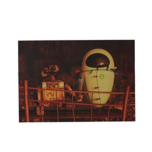 ALTcompluser Retro Poster Wanddekoration Vintage Wandbild Kleinformat Plakat für Wandgestaltung(Roboter)