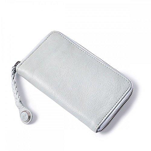 NOOSA-Amsterdam NOOSA Wabi Sabi Braided Mobile Wallet Light Grey Original Portmonee