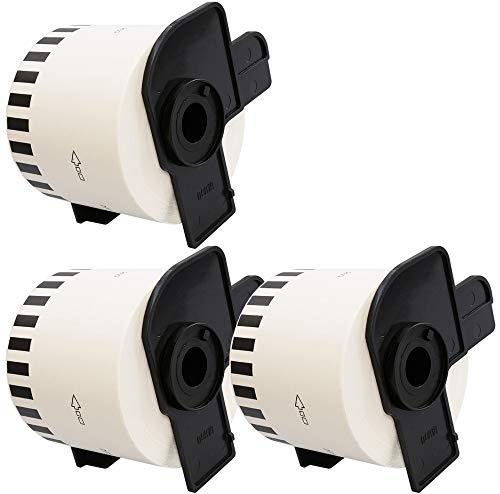 3 x DK22205 62mm x 30.48m Endlos-Etiketten kompatibel zu Brother P-Touch QL-500 QL-500A QL-550 QL-560 QL-570 QL-700 QL-710W QL-720NW QL-800 QL-810W QL-820NWB QL-1050 QL-1060N QL-1100 QL-1110NWB