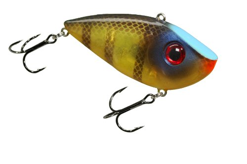 Strike King Lures REYESD12-622 Red Eyed Shad 1/2 oz Hard Lipless Crankbait Lure, 3 1/4' Length. 8' Depth, Two# 6 Treble Hooks, Bluegill, per 1