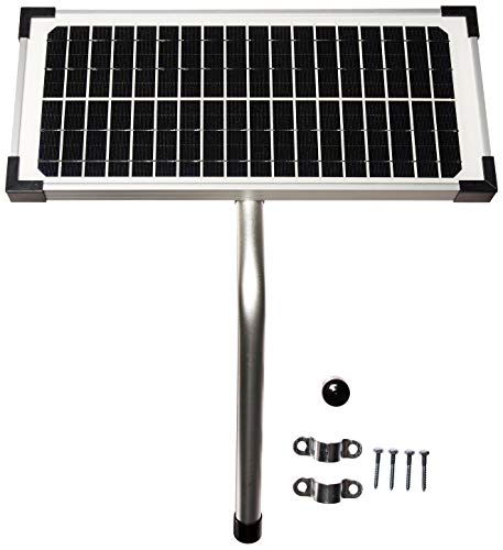 10 Watt Solar Panel Kit (FM123) for Mighty Mule Automatic Gate Openers,Black Cell
