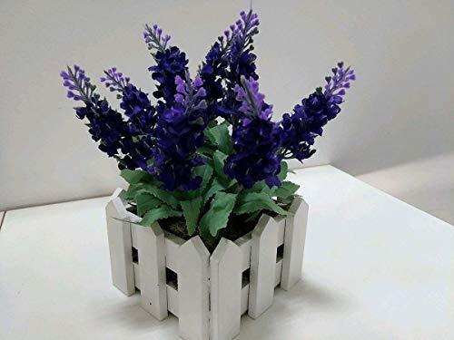 Kit 15 Flores Artificiais Lavanda Flores e Folhas Cor:Roxo