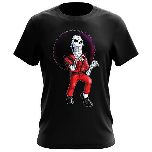 T-Shirt Noir One Piece parodique Brook : Thriller !! (Parodie One Piece)