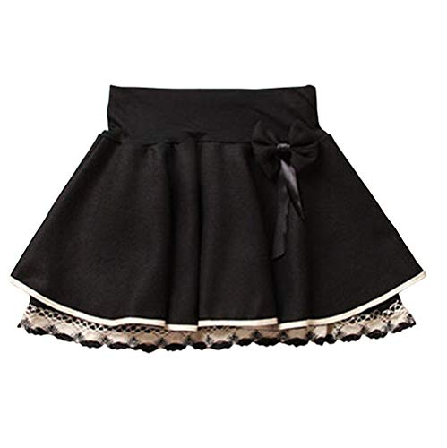 DISSA AD106 - Falda plisada para mujer Negro 36-42