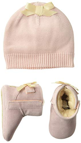 UGG Baby's Female Jesse Bow II and Beanie Boot, Baby Pink, 4 (UK)