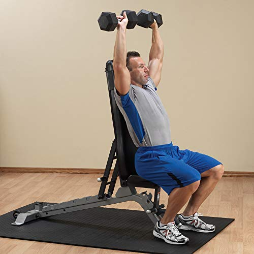 Body-Solid SFID325 Pro Clubline Adjustable Bench for Power Racks and Dumbbell Curls, Home and Commercial Gym