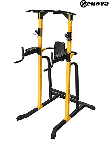 ZENOVA Power Tower Heavy Duty Gym Power Multi-Function Home Strength Training Tower Dip Stand Pull up Workout Station Bar