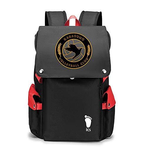 SHU-B Haikyuu!! Mochila Escolares Juveniles para Mochila Unisex de Carga USB Backpack Resistente Al Agua Universitaria Daypacks para Mujeres Hombres