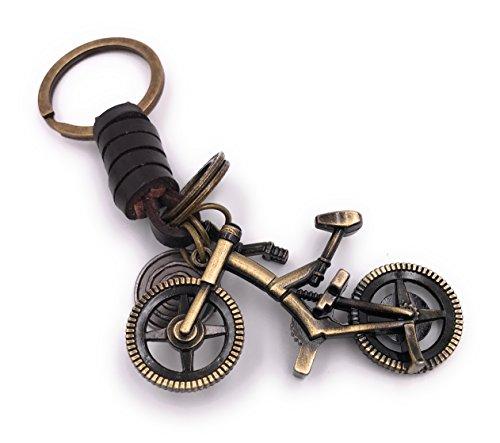 H-Customs Full Trail Fully Fahrrad Schlüsselanhänger besonderer Anhänger aus Metall Bronze