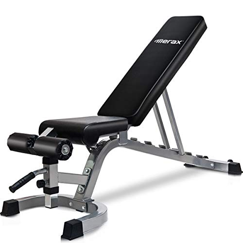 Merax Utility Weight Bench 800 LBS Capacity Adjustable Workout Bench for Weight Training, Full Body...