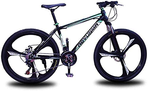 giyiohok Mountainbike Unisex-Federung Mountainbike 24-Zoll-Räder High-Carbon-Stahlrahmen Fahrrad 21/24/27 Geschwindigkeit Doppelscheibenbremse Commuter City-27 Geschwindigkeit_Grün