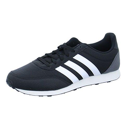 ADIDAS V Racer 2.0, Zapatillas Hombre, Negro (Core Black/Solar Red/Footwear White), 45 1/3 EU