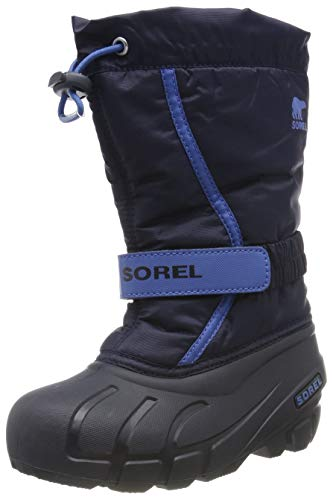 Sorel Unisex-Kinder Childrens Flurry Schneestiefel, Blau (Collegiate Navy/Atmosphere), 29 EU