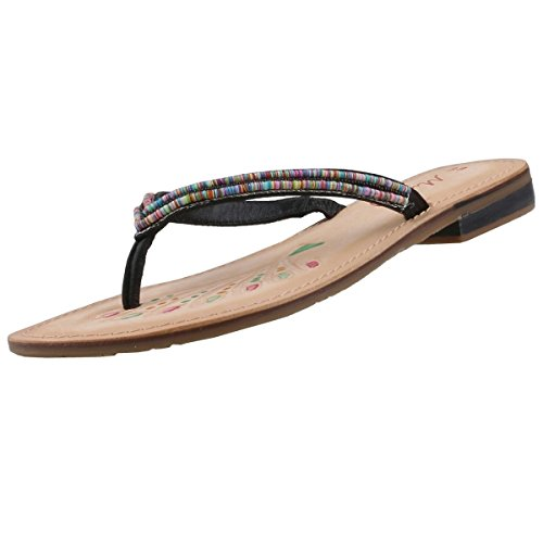 MUSTANG Damen Zehentrenner Weiß, Schuhgröße:EUR 39