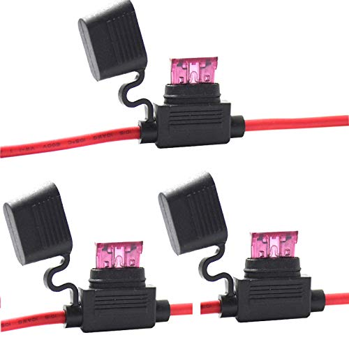 3 Pack 10 Gauge Inline Fuse Holder - Muhize s Waterproof Standard APR ATO ATC Fuse Holder with 40AMP Standard Fuses