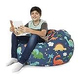 BANBALOO- Bolsa Puff XXL para guardar juguetes de peluche-Saco almacenamiento para cojines y mantas convertible en sillón para niños- Organizador infantil.