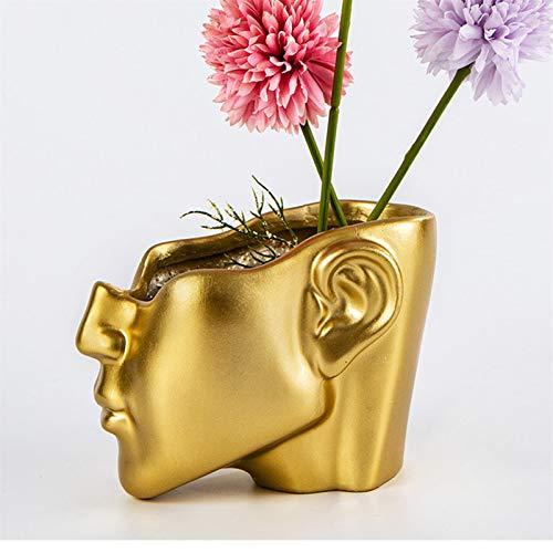 Half Face Planter, Head Planter Face Pot, Flower Pot Succulent Pot,...