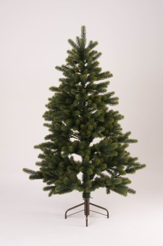 Huebsch Deko - Albero di Natale artificiale, 150 cm, 650 punte, con supporto in metallo