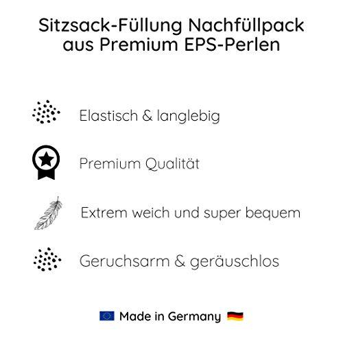 Liou Remplissage de pouf en perles de polystyrène expansé de qualité supérieure (300 l) - Fabriqué en Allemagne