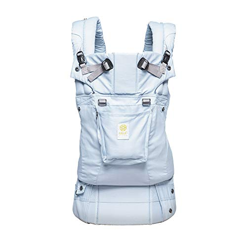 LÍLLÉbaby Complete Organic SIX-Position Ergonomic Baby & Child Carrier, Powder Blue - Organic Cotton