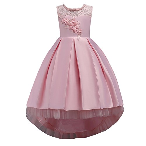 Wulide Kindermeisjesavondjurk prinses jurk feestjurk met bloemen