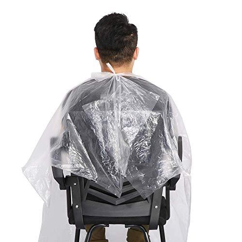 100 mantelle usa e getta impermeabili per parrucchieri e barbieri, per shampoo, taglio dei capelli e barba