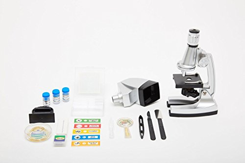 E&B Microscope Kit with 6 Magnifications 50x to 1200x, Includes 37 - Piece Accessory, Handy Storage Case (5 Bonus Animal/Plant Sides) (37 - Piece Accessory Set) 2
