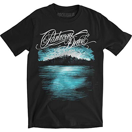 Parkway Drive - Herren Deep Blue Skyline Slimfit T-Shirt, Large, Black