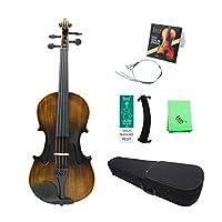 バッグショルダーレストバイオリンブリッジストリングクリーニングクロス 品の4/4バイオリンビンテージ光沢のあるアコースティックバイオリンバスウッドパネルマップ (色 : Matte)