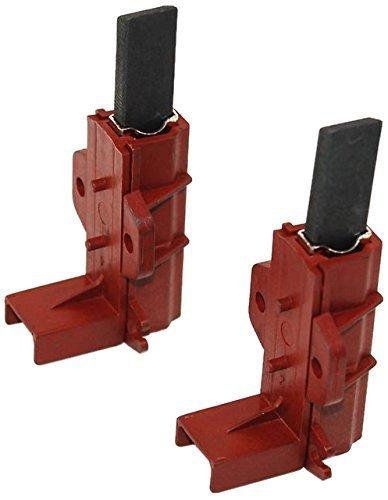 Paquete de 2 cepillos de carbono para motor de lavadora y soporte para Hotpoint, Indesit, Ariston y Zanussi