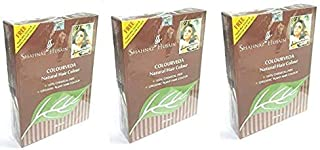 Shahnaz Husain Colourveda Herbal Ayurvedic Natural Blackish-Brown Hair Color Latest International Packaging 3 Pack (3 x 100 g)