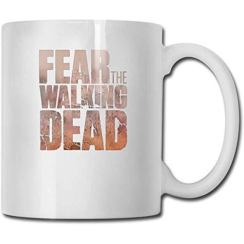 Tazas Fear The Walking Death Diseño Moda Taza de café Tee Cup Regalo para fanáticos Marido Esposa Novia Blanco