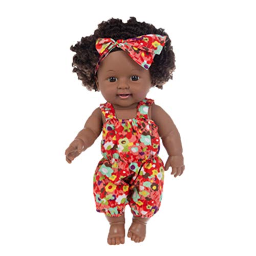 Reborn Newborn Baby Dolls Look Real Soft Silicone Lifelike Black Pearl African American Full Body Reborn Doll with Baby Clothes for Toddler Boys Girls Birthday Gift